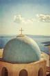 Obrazy na płótnie, fototapety, zdjęcia, fotoobrazy drukowane : Vintage church and panorama - Santorini Greece