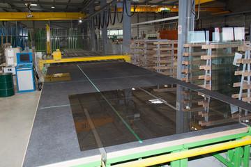 travail du verre en usine