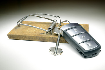 Keys in mousetrap