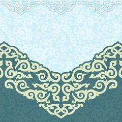 Oriental, folk ornament. Pattern seamless.