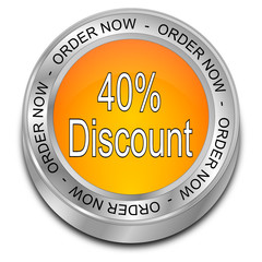 40% Discount - Order now Button