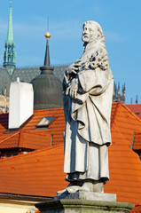 Statues on Charles Bridge, Prague, Czech Republic