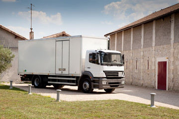 camion en livraison