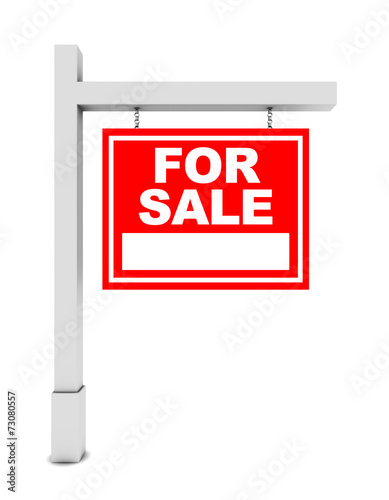 For sale banner on white background - 73080557