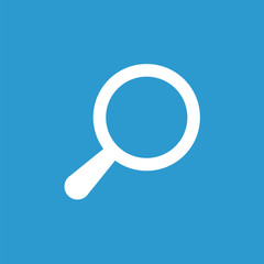 search icon, white on the blue background .