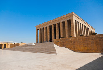Mustafa Kemal Ataturk mausoleum in Ankara Turkey