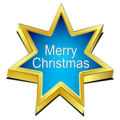 Merry Christmas star button