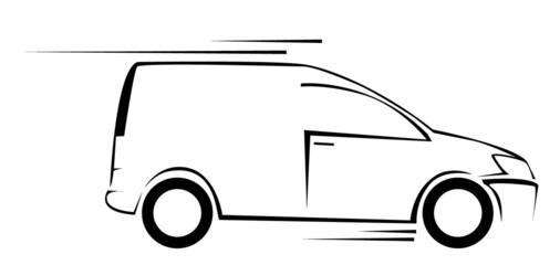 Van Car Symbol Vector Illustration