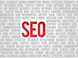 Vector SEO sign and tags background social engine optimization