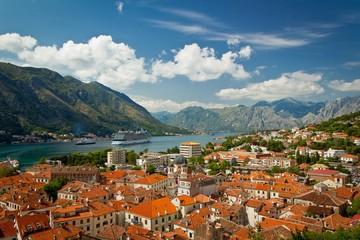 Beautiful landscape of Kotor Bay, Montenegro, Adriatic sea