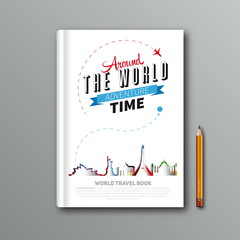 World Travel Book Template Design, can be used for Book Cover, M