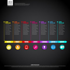 Timeline Infographic. With set of Icons. Vector design template