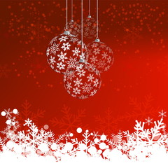 Christmas background with snow balls, vector