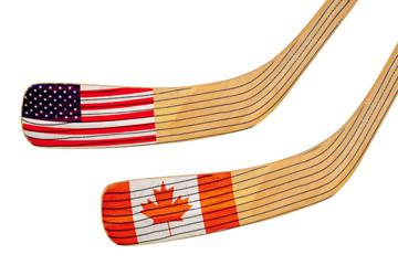 Two hockey sticks