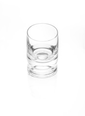 glass of vodka with reflection