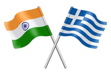 Flags: India and Greece