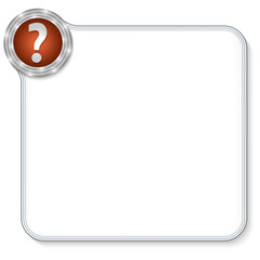 vector frame for any text with question mark