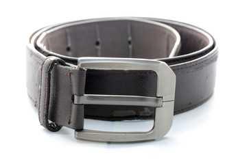 Old leather men belt.