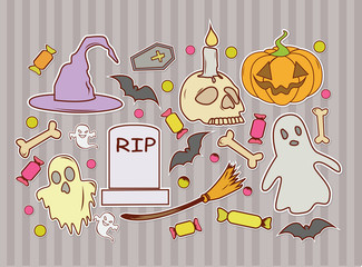 Funny Background Halloween Design