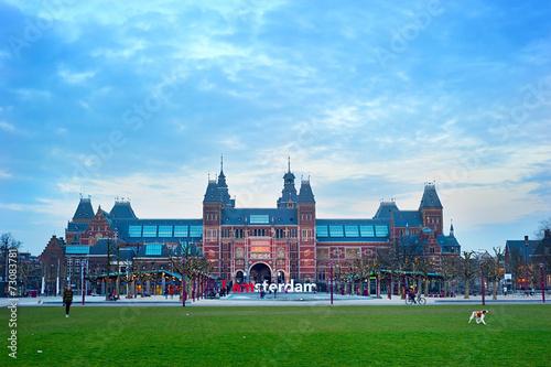 Fotobehang Amsterdam Museum area, Amsterdam
