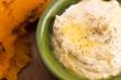 A bowl of creamy hummus