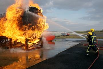 petroleum tank on fire
