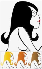 Portrait de femme vu de profil
