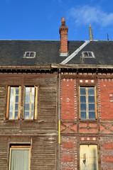 Façade d'un vieux bâtiment