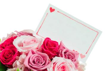 メッセージカード バラの花束