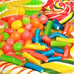 Marmelade, caramels, lollipops, liquorice