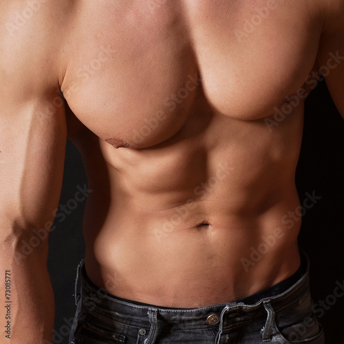 canvas print picture muskulöser Body