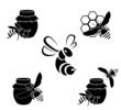 Obrazy na płótnie, fototapety, zdjęcia, fotoobrazy drukowane : Honey vector icons
