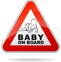 baby on board triangle sign