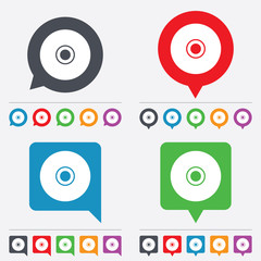 CD or DVD sign icon. Compact disc symbol.