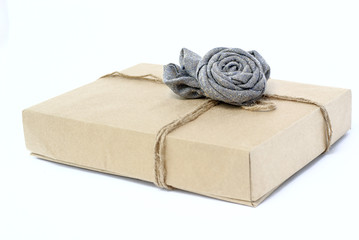 box of paper rope rose from fabric