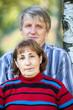 Senior Caucasian couple head and shoulders portrait