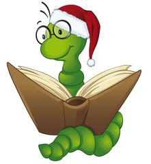 Bücherwurm ließt Weihnachtsgeschichte vor