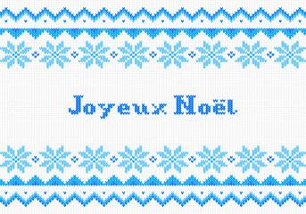 carte de Noël tricoté