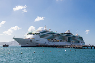 Cruise Ship at PIer in Sunny Port