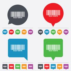 Bar code sign icon. Scan code symbol.