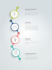 Timeline infographic template. Vector circle banner.