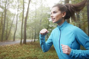 I always start a day for running
