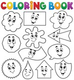 Coloring book various shapes 2