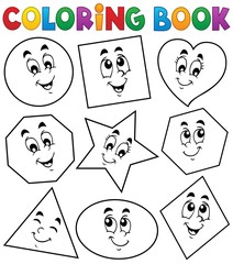 Coloring book various shapes 1
