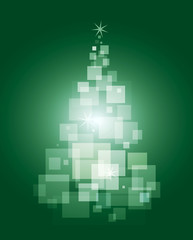 Green magical Christmas tree