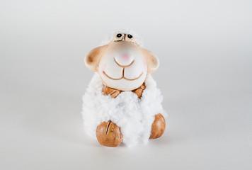 toy white lamb symbol of new 2015