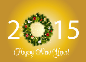 Abstract Beauty 2015 New Year Background. Vector Illustration