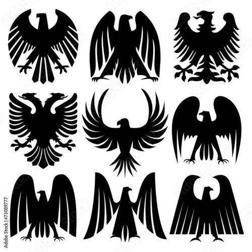 Heraldic Eagles Set - 73089777