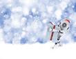 Christmas robot background
