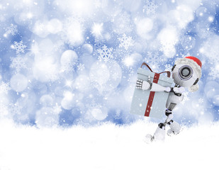 Christmas robot background